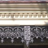 terrace house restoration, balcony, balustrade, cast iron, lace, frieze