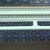 terrace house balcony balustrade cast iron frieze restoration
