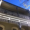 terrace house restoration, balcony, cast iron, balustrade, frieze, lace