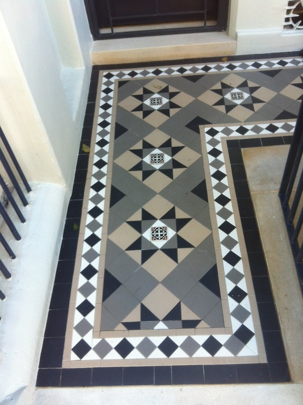 terrace house restoration traditional tessellated tiles